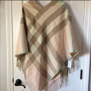 d3c7f23a2d8c2 Rose Gold Cape Shawl Wrap Poncho One Size NWOT